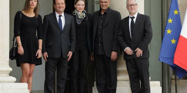 Les lauréats de la Palme d'or 2013 déjeunent à l'Elysée