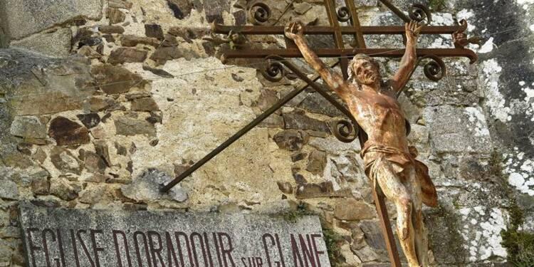 Pèlerinage franco-allemand inédit à Oradour, village martyr