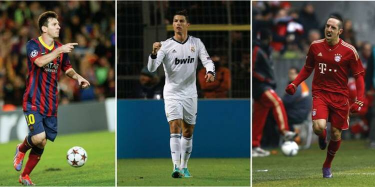 Football: Ronaldo, Messi et Ribéry en finale du Ballon d'Or