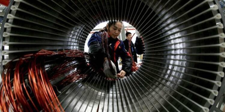 Ralentissement de la croissance du secteur manufacturier chinois
