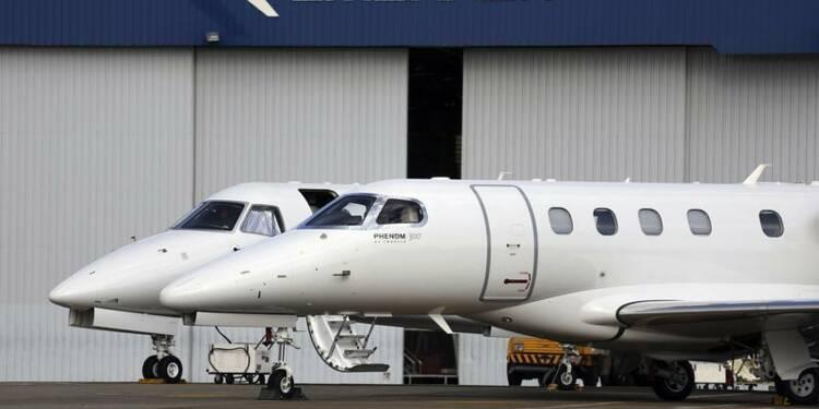 Embraer voit une baisse de la demande pour les avions d'affaires