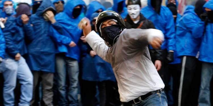 Manifestation anti-austérité et échauffourées à Rome