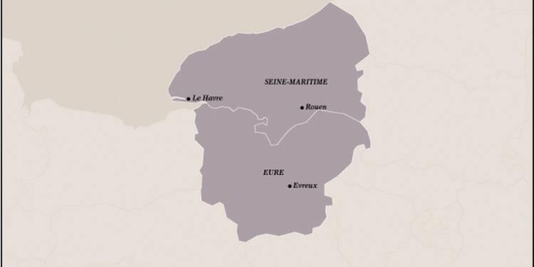 Haute-Normandie (21ème) : l'éolien s'installe et le port duHavre prospère