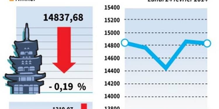 La Bourse de Tokyo finit en petite baisse
