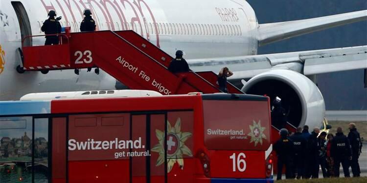 Fin du détournement d'avion à Genève, le copilote arrêté