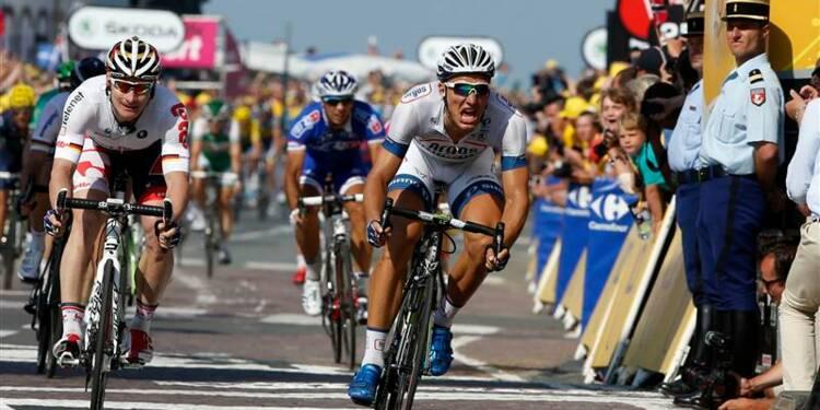 Tour de France: l'Allemand Marcel Kittel remporte la 10e étape