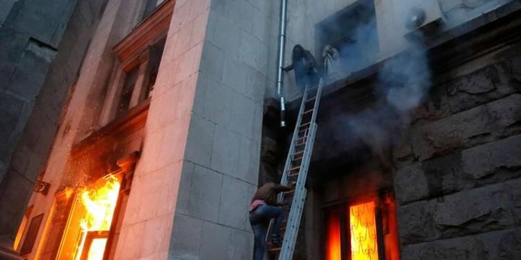 Plus de 40 morts à Odessa dans des heurts et un incendie