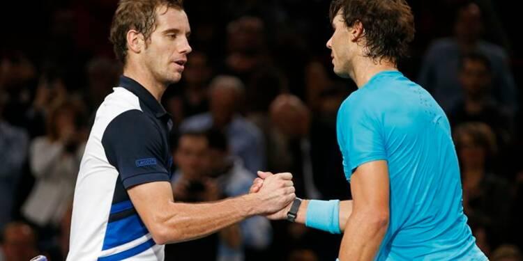 Tennis: Nadal domine Gasquet et va en demie à Bercy