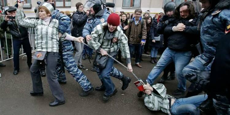 Coup de filet lors d'une manifestation d'opposants à Moscou