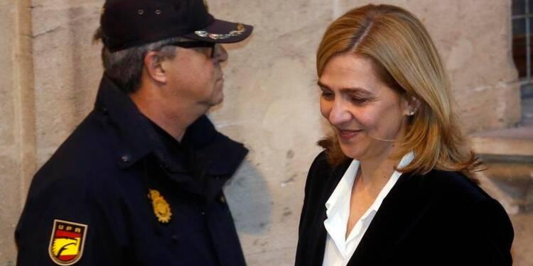 Confirmation des charges contre l'infante Cristina en Espagne