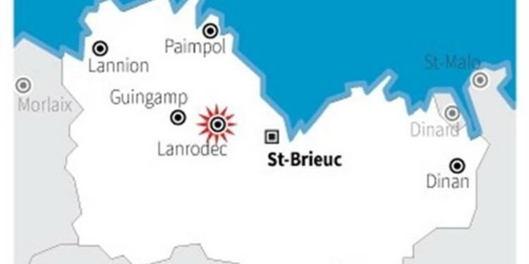 Un portique écotaxe détruit dans les Côtes-d'Armor