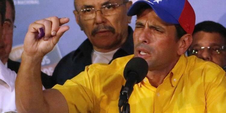 Capriles a emporté l'élection au Vénézuéla, selon l'opposition