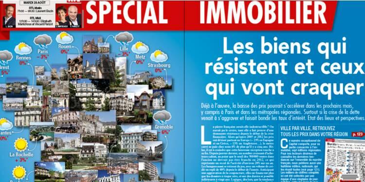Les prix de l'immobilier dans 170 villes de France, une grande enquête du magazine Capital