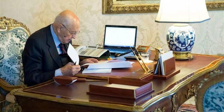 Le président Giorgio Napolitano a dissous le Parlement italien
