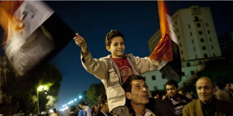L'Egypte fête le départ de Hosni Moubarak