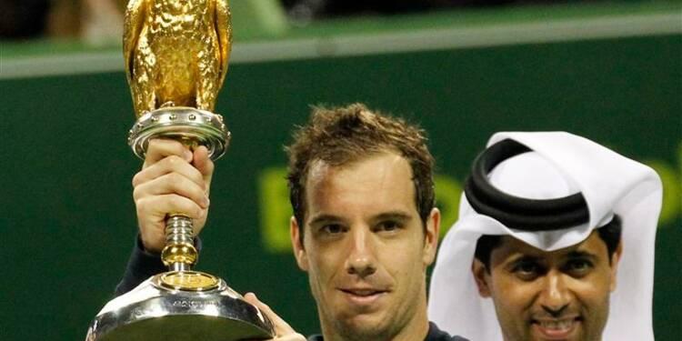 Tennis: Gasquet s'offre le huitième titre de sa carrière à Doha