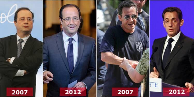 Hollande-Sarkozy : la métamorphose des deux finalistes