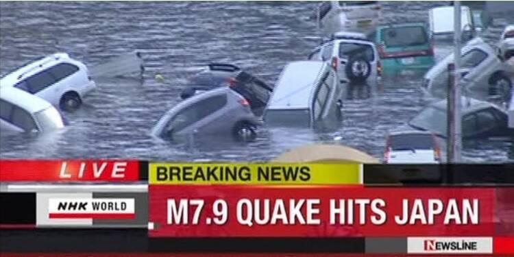 Le Japon frappé par un tsunami après un séisme majeur