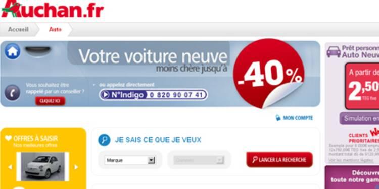 Auchan se lance dans la vente de voitures neuves sur Internet