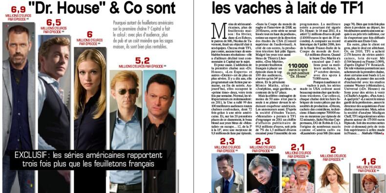 """""""Dr House"""", """"Mentalist""""… les séries télé les plus rentables pour TF1"""
