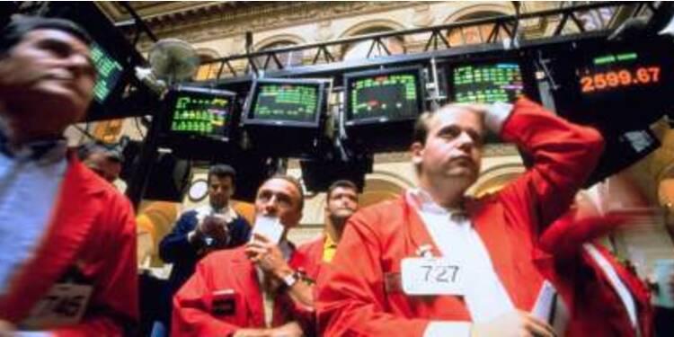 Le CAC 40 dans le rouge vif, les financières au coeur de la tourmente
