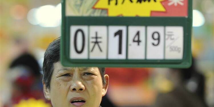 Pic d'inflation en Chine en décembre