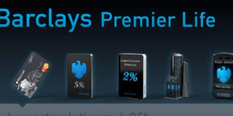 Pour séduire une clientèle aisée, Barclays abat une carte platinium gratuite