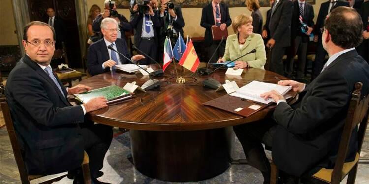 Hollande et Merkel s'entendent pour une relance de 130 milliards d'euros