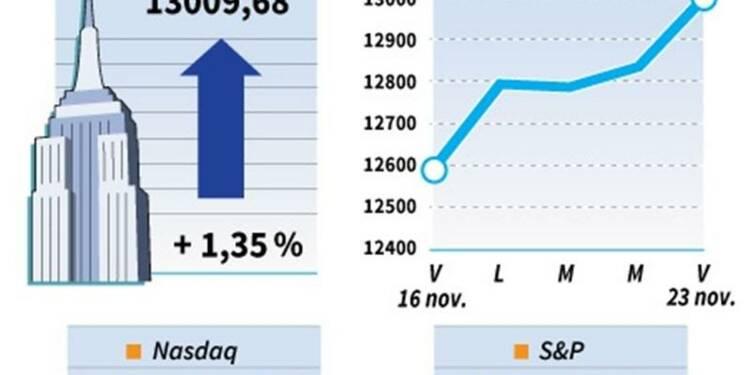 Wall Street finit en hausse une séance écourtée