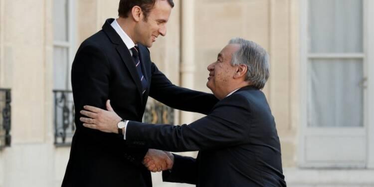 Macron a discuté paix et sécurité avec le secrétaire général de l'Onu
