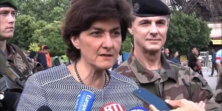 Paris : la ministre des Armées rend visite aux forces Sentinelle