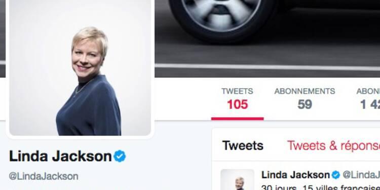 A quoi ressemble le compte Twitter de Linda Jackson, la patronne de Citroën ?