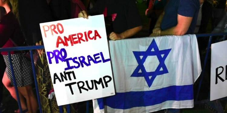 Des militants manifestent contre Trump à Jérusalem