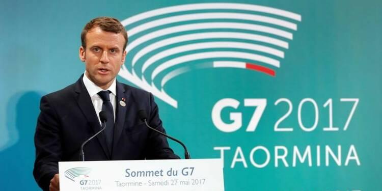 """G7: Macron pense que Trump a """"pris conscience"""" des enjeux sur le climat"""