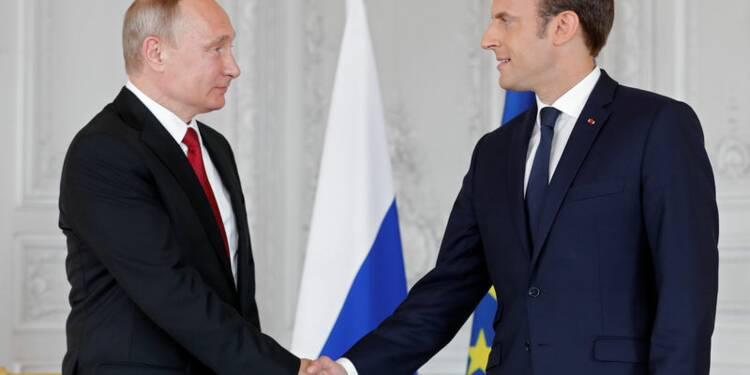 Premier tête-à-tête musclé entre Poutine et Macron