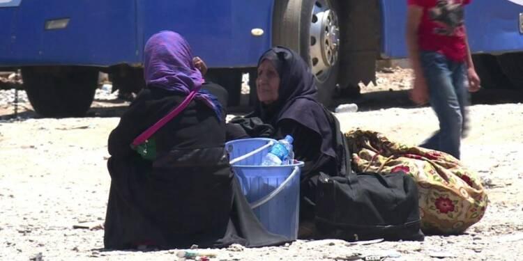 Rescapés de Mossoul, des déplacés irakiens disent