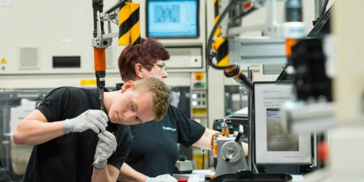 Hausse plus forte que prévu de la production industrielle allemande