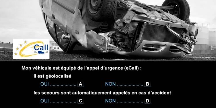 Code de la route, question 9 : appel d'urgence