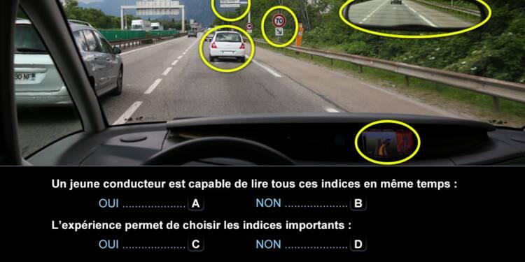 Code la route, question 4 : jeune conducteur et expérience