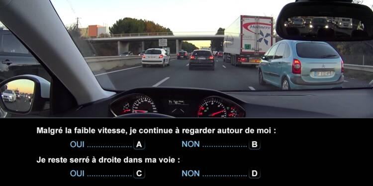 Code la route, question 5 : embouteillages