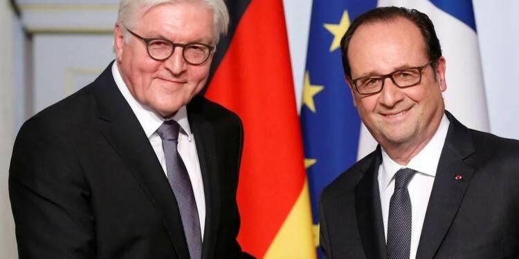"""Paris et Berlin affirment leur """"responsabilité"""" envers l'UE"""