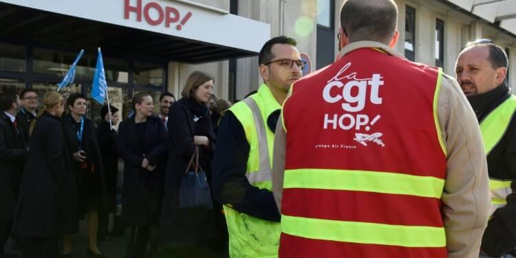 Grève Hop!: annulations de vols et salariés mobilisés chez Hop!