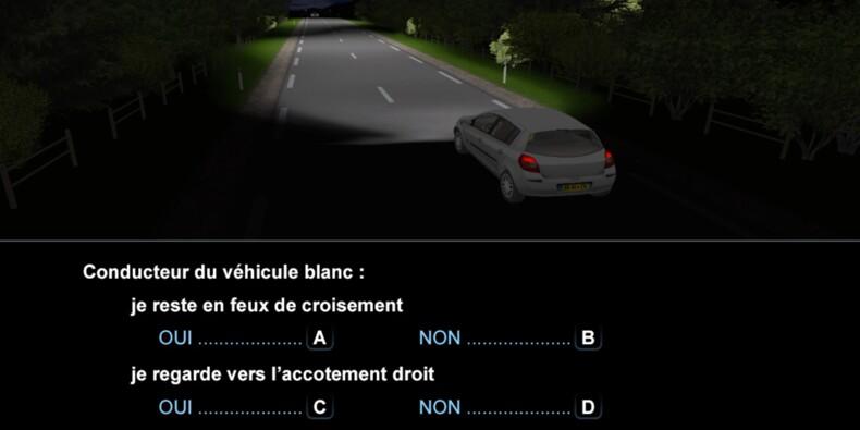 Code de la route, question 19 : nuit
