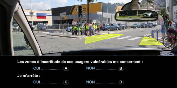 Code de la route, question 24 : passage piéton