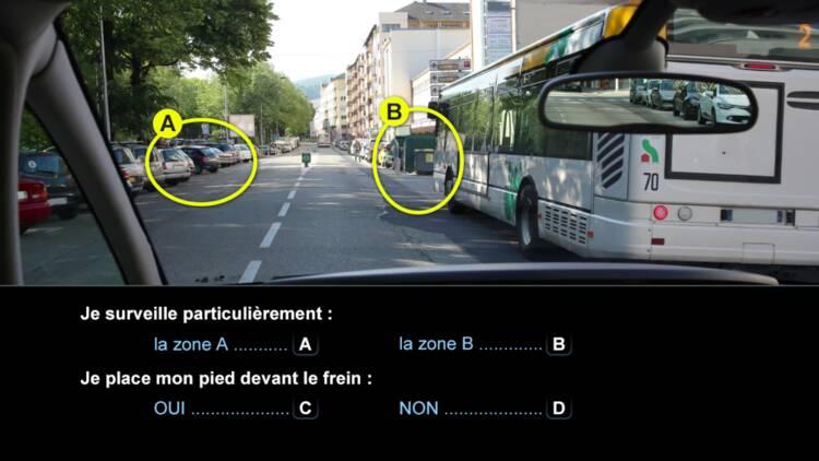 Code de la route, question 8 : bus