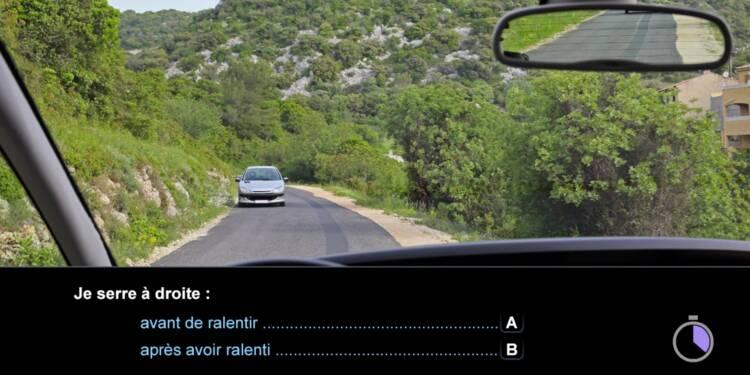Code la route, question 16 : serrer à droite