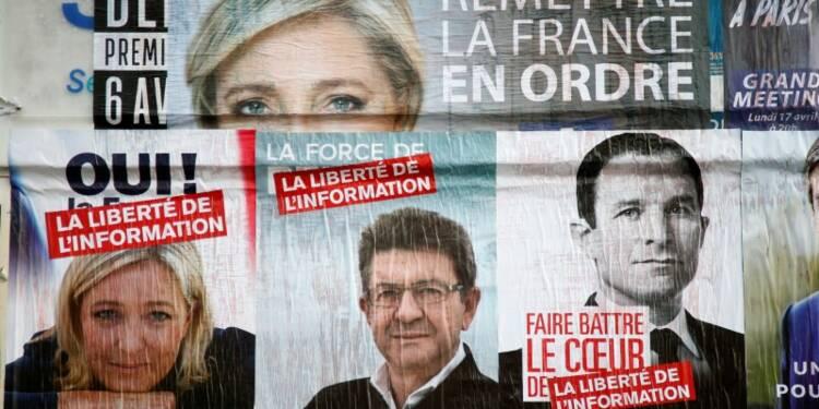 Le Pen (25%) devance Macron (24,5%) et Fillon (18%), selon le sondage quotidien d'Ifop-Fiducial