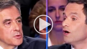 Débat de la présidentielle : la féroce attaque de Benoît Hamon contre François Fillon sur les fonctionnaires