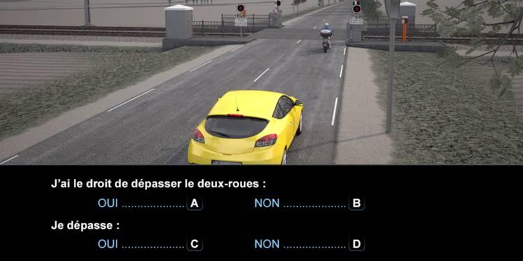Code la route, question 11 : dépassement d'un scooter