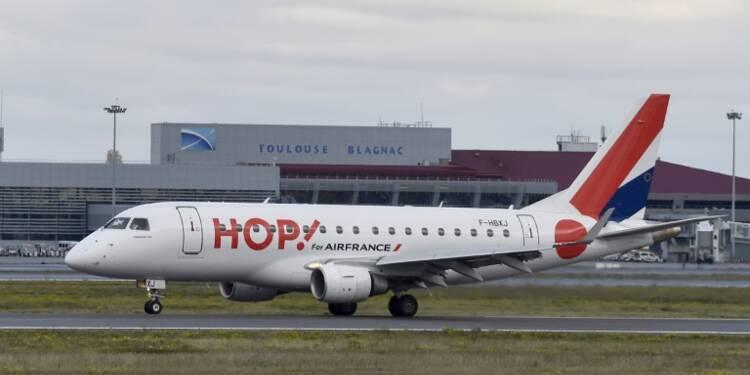 La compagnie aérienne Hop! annonce une grève de deux jours